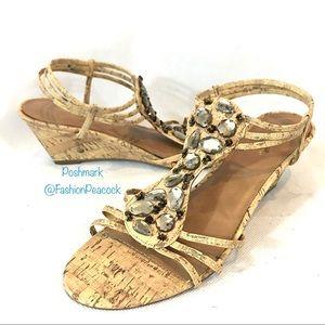 "Jaclyn Smith ""Rimini"" Jeweled Gladiator Sandal"